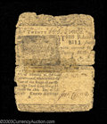 Colonial Notes:Delaware, Delaware February 28, 1746 20s Fine. Scotch-tape repaired ...