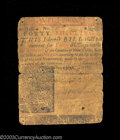 Colonial Notes:Delaware, Delaware May 31, 1760 40s Fine. The center split is glue-...