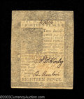 Colonial Notes:Delaware, Delaware January 1, 1776 18d Very Fine. Problem free....