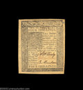 Colonial Notes:Delaware, Delaware January 1 1776 4s Very Choice New. A bit too aged ...