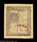 Colonial Notes:Delaware, Delaware January 1, 1776 4s Choice New. Hugely margined ...