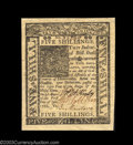 Colonial Notes:Delaware, Delaware January 1 1776 5s Gem New. Bright, bold and well ...