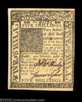Colonial Notes:Delaware, Delaware January 1, 1776 5s Choice About New. There is a ...