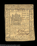 Colonial Notes:Delaware, Delaware May 1, 1777 6s Extremely Fine. The back is ...