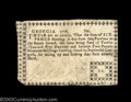 Colonial Notes:Georgia, Georgia 1776 Sterling Issue 6d Very Fine. There is a minor ...