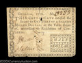Colonial Notes:Georgia, Georgia 1776 $1/2 Very Fine-Extremely Fine. Very high ...