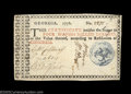 Colonial Notes:Georgia, Georgia 1776 $4 Blue Seal Extremely Fine. There is a ...