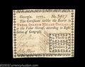 Colonial Notes:Georgia, Georgia 1777 $3 Choice Very Fine. A note that simply is ...