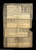 Colonial Notes:Maryland, Maryland March 1, 1770 grouping. $1, $2, $4 and $6 all ... (4notes)