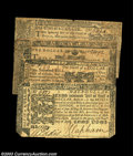 Colonial Notes:Maryland, Four April 10, 1774 Maryland Notes. $1/9, $1/3, $1/2 and $... (4notes)