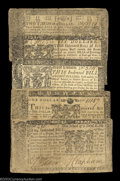 Colonial Notes:Maryland, Five Mixed Maryland Notes. March 1, 1770 $6 and $8, and ... (5notes)