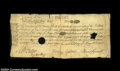 Colonial Notes:Massachusetts, Massachusetts May 25, 1775 18s Fine-Very Fine. The center ...
