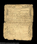 Colonial Notes:Massachusetts, Massachusetts December 7, 1775 2s8d Fine, Sewn. ...