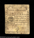 Colonial Notes:Massachusetts, Massachusetts 1779 4s6d Fine. The note has several repairs ...