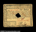 Colonial Notes:Massachusetts, Massachusetts May 5, 1780 $1 Extremely Fine. Hole canceled ...