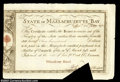 Colonial Notes:Massachusetts, Massachusetts Treasury Certificate December 24, 1780 Choice ...