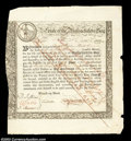Colonial Notes:Massachusetts, Massachusetts Six Percent Treasury Certificate. Incredible ...