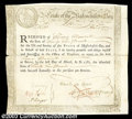 Colonial Notes:Massachusetts, Massachusetts Six Percent Treasury Certificate. The most ...