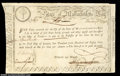 Colonial Notes:Massachusetts, 1780 Massachusetts Lottery Winner's Treasury Certificate. ...