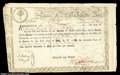 Colonial Notes:Massachusetts, Massachusetts 1779 Six Percent Treasury Certificate. ...