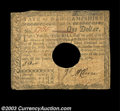 Colonial Notes:New Hampshire, New Hampshire April 29, 1780 $1 Fine. Hole canceled as ...