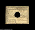 Colonial Notes:New Hampshire, New Hampshire April 29, 1780 $3 Very Fine. Hole canceled ...