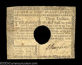 Colonial Notes:New Hampshire, New Hampshire April 29, 1780 $3 Fine. Cancelled with the ...