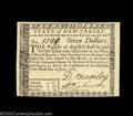 Colonial Notes:New Jersey, New Jersey June 9, 1780 $7 Choice About New. A nice high-...