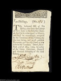 Colonial Notes:New York, New York May 31, 1709 10s Choice Extremely Fine. This is ...