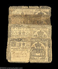 Colonial Notes:New York, Four Early New York Notes. L10 April 15, 1758, L2 April 2, ... (4notes)