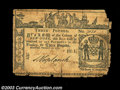 Colonial Notes:New York, New York February 16, 1771. Three notes: 5s, L3 and L5. ... (3 notes)