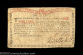 Colonial Notes:New York, New York August 25, 1774 1s Very Fine. A lightly ...