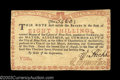 Colonial Notes:New York, New York August 2, 1775 8s About New. A nice water works ...