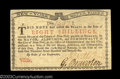 Colonial Notes:New York, New York January 6, 1776 8s Very Choice New. Fully ...