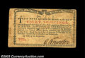 Colonial Notes:New York, New York January 6, 1776 8s Very Fine. Attractive from the ...