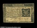 Colonial Notes:New York, New York March 5, 1776 $1/6 Very Fine. Closely margined, ...