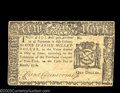 Colonial Notes:New York, New York March 5, 1776 $1 Extremely Fine. A very nice ...