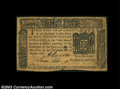 Colonial Notes:New York, New York August 13, 1776 $5 Very Fine. A handsome, well ...