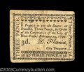 Colonial Notes:New York, New York City of New York February 20, 1790 3d Extremely ...