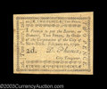 Colonial Notes:New York, New York City February 20, 1790 2d About New. A very nice ...
