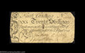 Colonial Notes:North Carolina, North Carolina April 4, 1748 20s Very Fine. The upper-...