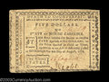 Colonial Notes:North Carolina, North Carolina August 8, 1778 $5 About New. Beautifully ...