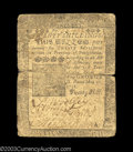Colonial Notes:Pennsylvania, Pennsylvania May 20, 1758 20s Choice Fine. Taped on the ...
