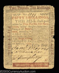 Colonial Notes:Pennsylvania, Pennsylvania April 25, 1759 50s Very Fine. Save for some ...