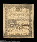 Colonial Notes:Pennsylvania, Pennsyvania April 3, 1772 1s Very Choice New. A bright, ...
