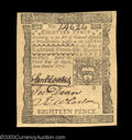 Colonial Notes:Pennsylvania, Pennsylvania April 3, 1772 18d Very Choice New. With just ...