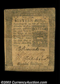 Colonial Notes:Pennsylvania, Pennsylvania March 20, 1773 16s Very Fine. A very nice ...