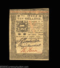 Colonial Notes:Pennsylvania, Pennsylvania October 1, 1773 10s Very Choice New. With ...