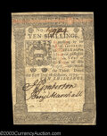 Colonial Notes:Pennsylvania, Pennsylvania October 1, 1773 10s Extremely Fine. A lightly ...