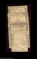 Colonial Notes:Pennsylvania, A group of Pennsylvania July 20, 1775 notes. Three notes ... (4notes)